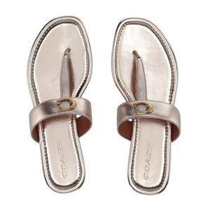 ☀️NEW☀️ COACH Jessie T-Strap Sandals